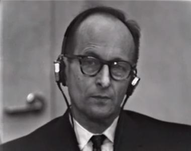Eichmann at his trial in 1960