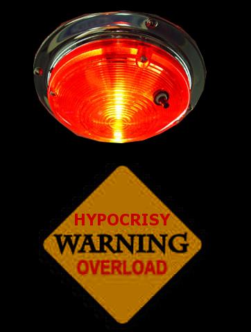 hypocrisy overload