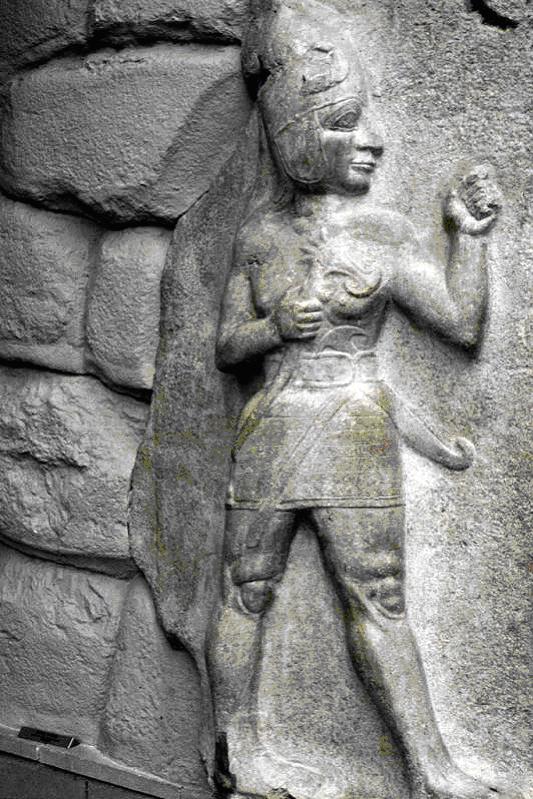 Nesilim statue guarding King's Gate - Hattusa