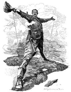 Cecil Rhodes straddling Africa