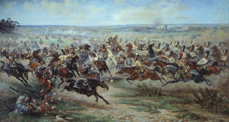 Napoleon battles the Russians at Friedland - 1807