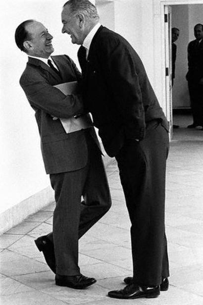 President Lyndon B. Johnson Making His Point