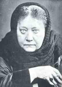 Helena Blavatsky - trying to do her gypsy crone imitation