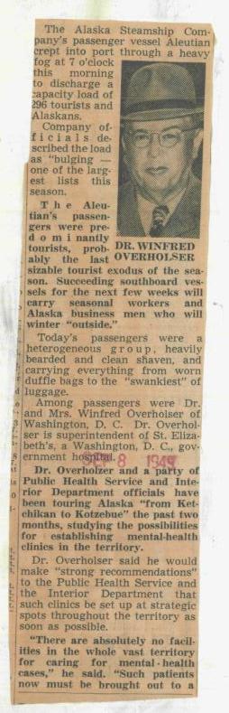 Overholser - Seattle Times Sept 8 1949