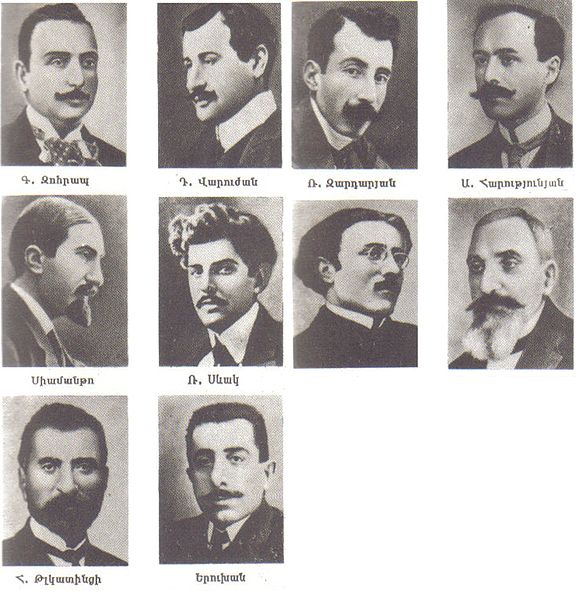 Armenian intellectuals who were arrested and later executed en masse by Ottoman authorities on the night of April 24, 1915.