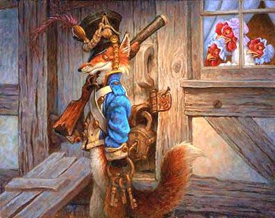 Fox Guarding Hen House