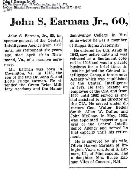 John_S._Earman_Jr.,_obituary_April_11_1974