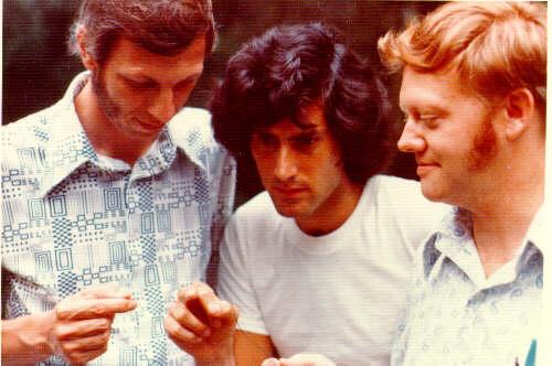 Uri Geller with Dr Eldon Byrd