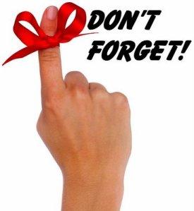 dont forget - reminder