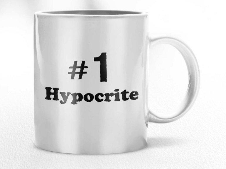 number 1 hypocrite