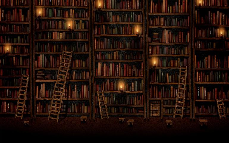 library dark
