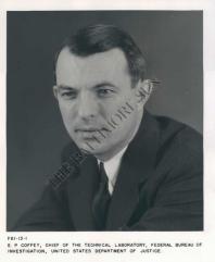 E.P Coffey, head of FBI technical Lab since 1935