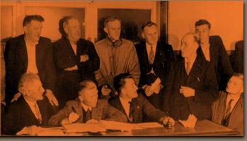 Eric Trist (right) 1950's in coal mines of durham