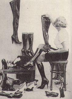 highheeled boots george white