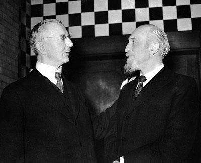 Hjalmar Schacht and Montagu Norman