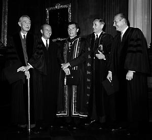 John Wiliam Gardner with Oppenheimer 1966