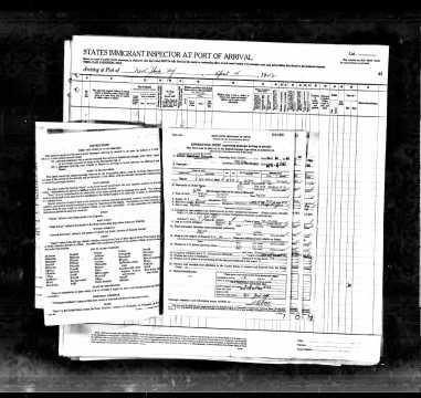 John Pepper full customs form (for the flight)
