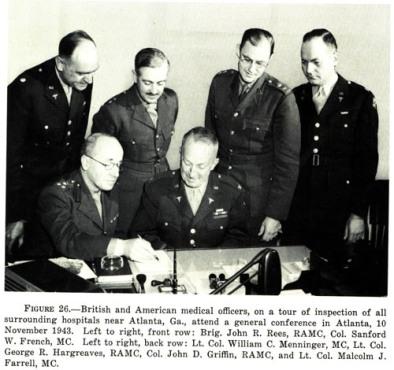 rees menninger hargreaves tour of hospitals november 1943