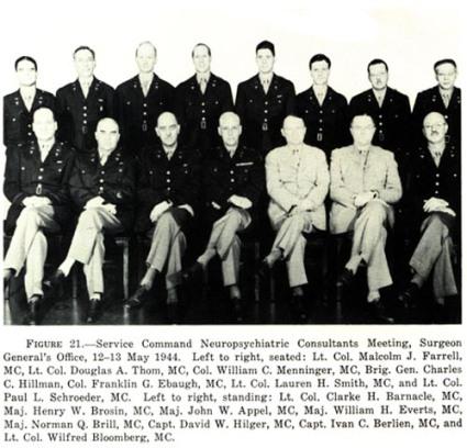 service command neuropsychiatry menninger etc WWII