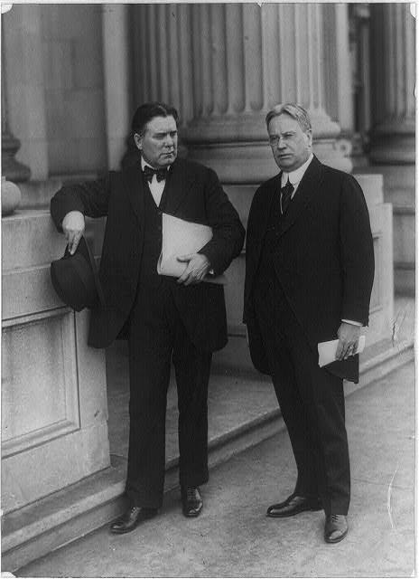 borah left hiram johnson right 1920s