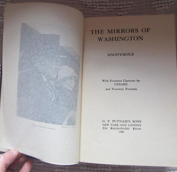 mirrors of washington title page