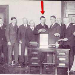 Ulric Bell (center) Press Association formation