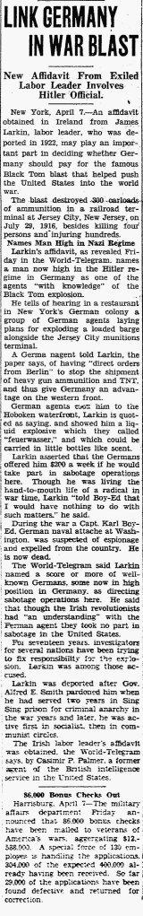 april 7 1934 casimir and lark black tom bombing