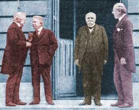 the big four dictators - borah calls the powers