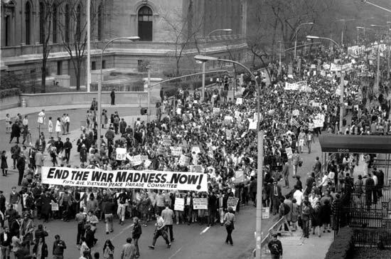 war protestor