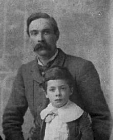 Leonard Huxley with son, Julian
