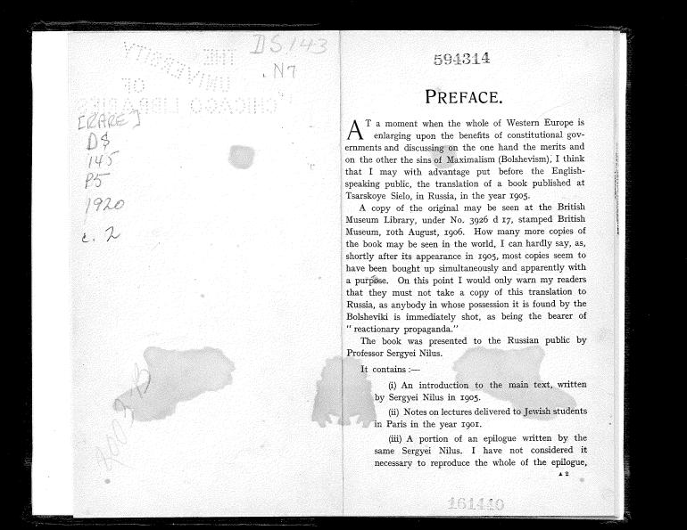 Nilus - The Jewish Peril - Preface-2