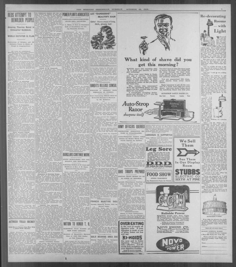 oregonian red bible october 27, 1919