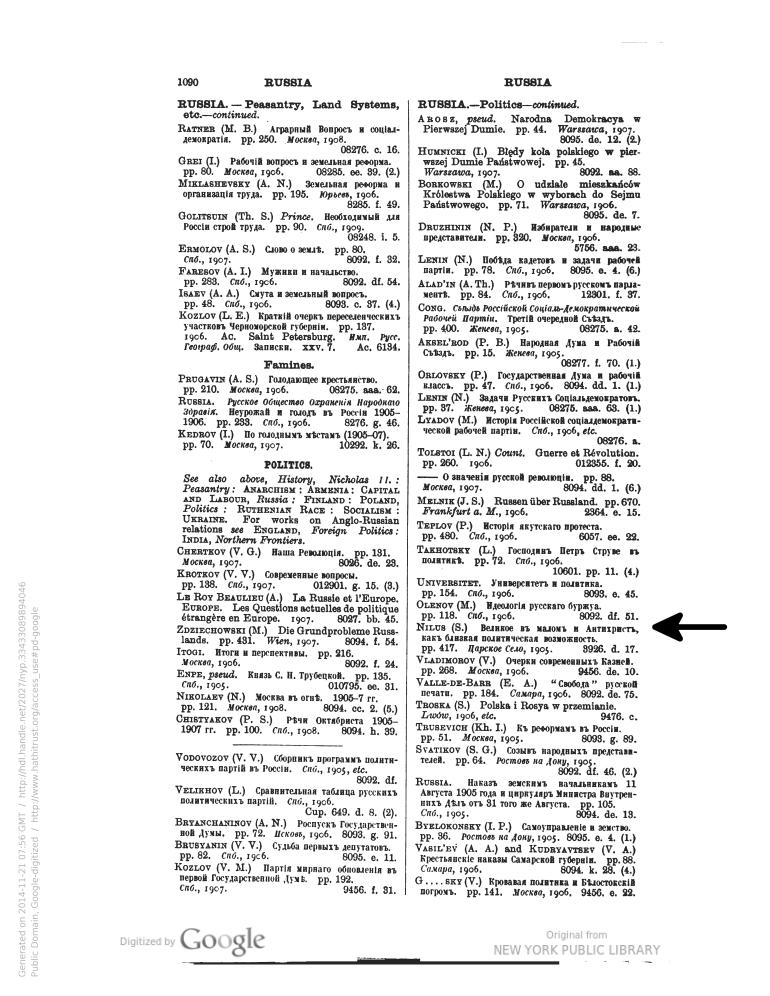 page 1090 british museum library index nilus protocols 1911