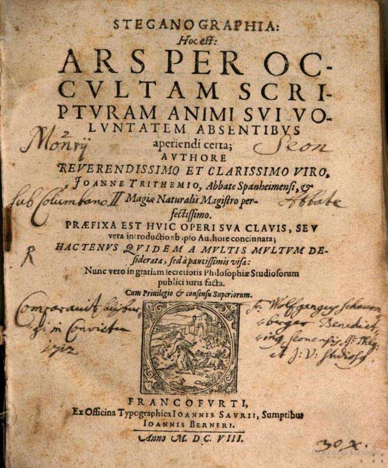 Steganographia book III - 1608