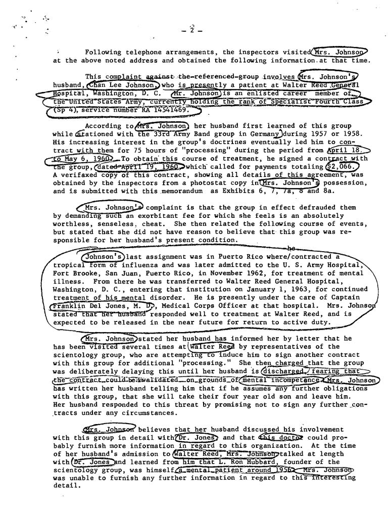 Frank J. Jancarek, Tampa FBI scientology 2