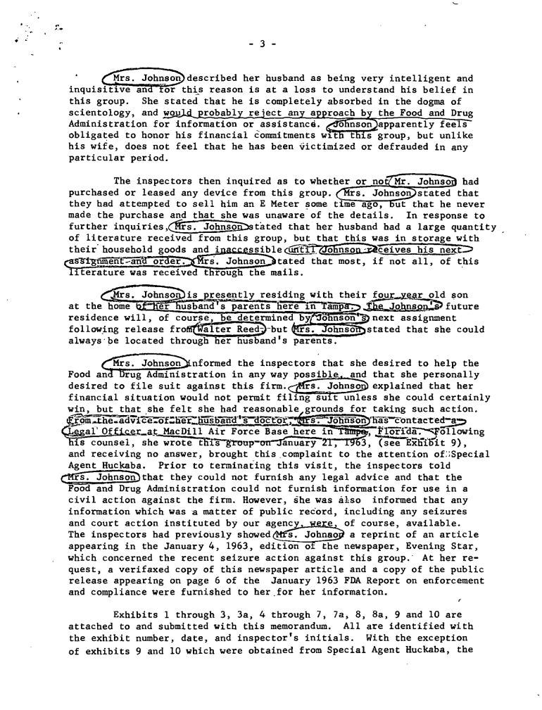 Frank J. Jancarek, Tampa FBI scientology 3