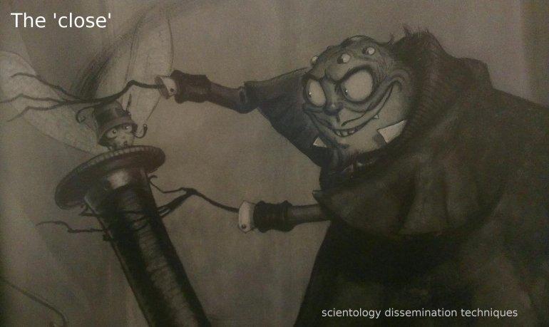 scientology dissmination the close