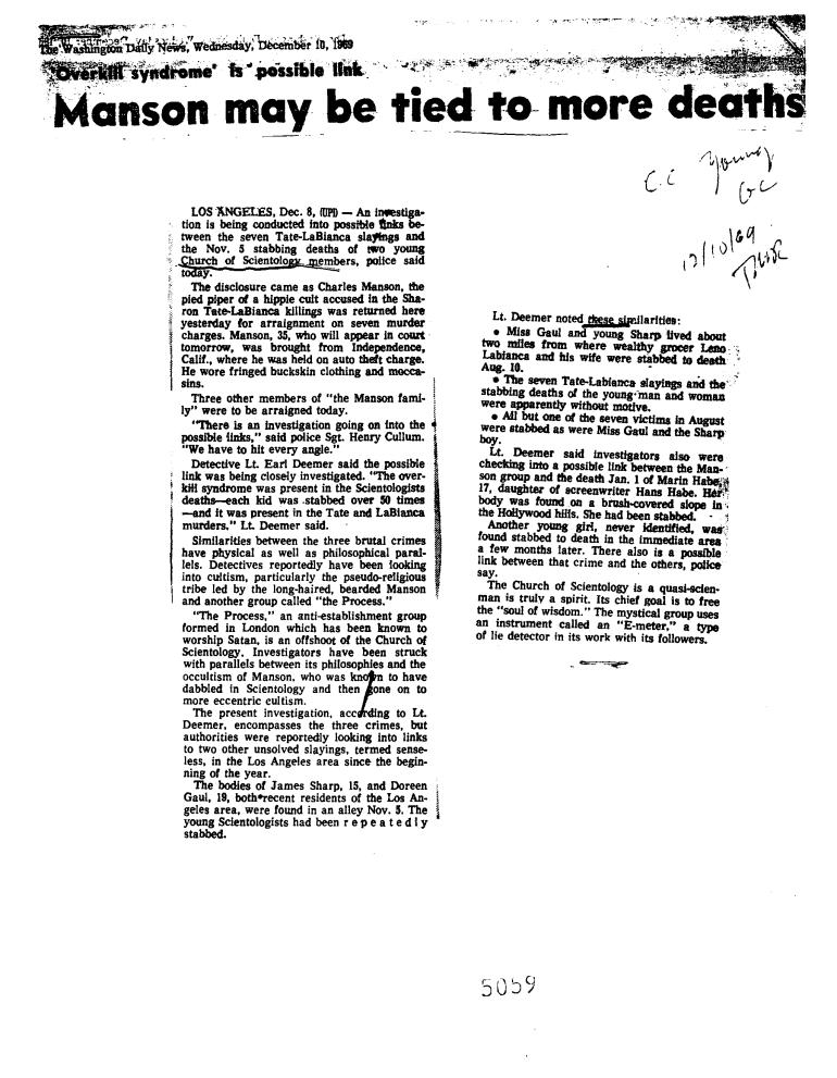 washington daily news manson december 10 1969 scientology