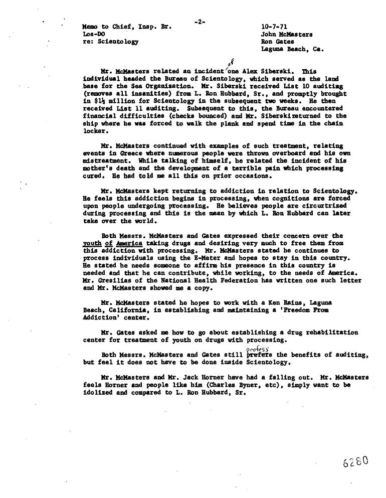 Scientology D Guardian Terry Milner Rats Out John McMaster