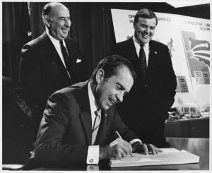 The Drug Lords - Nixon - Anslinger (behind left) and John Ingersoll signing DEA