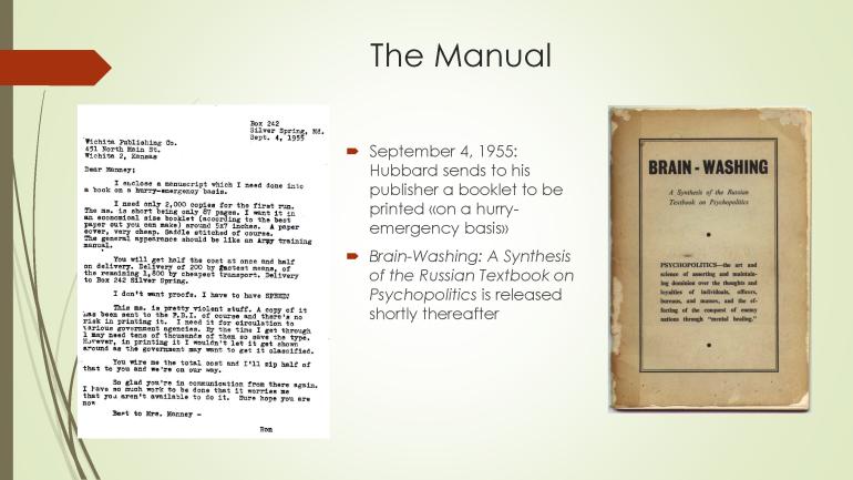 Hubbard and the Brain-Washing Manual
