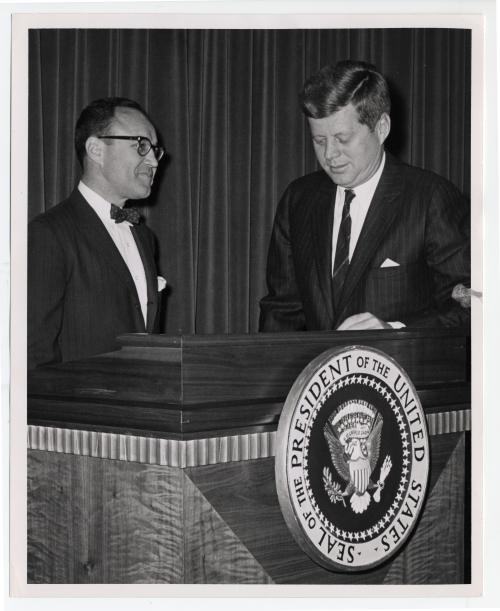 Mortimer Caplin and President John F. Kennedy