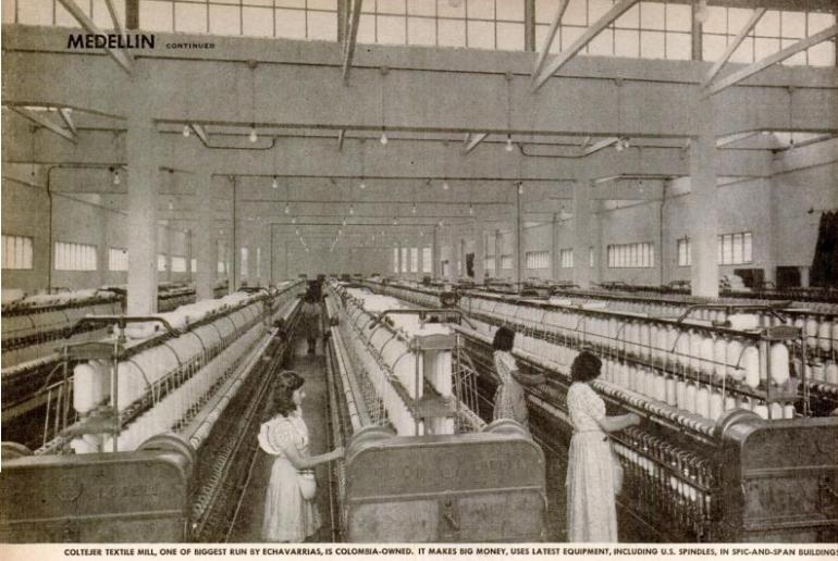 medellin life mag september 1947 6 echavarria coltejer mill