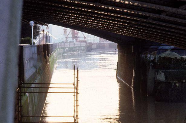 Scaffolding under Blackfriars Bridge from which Roberto Calvi was found hanging