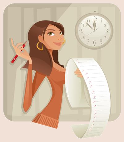 ticking off list