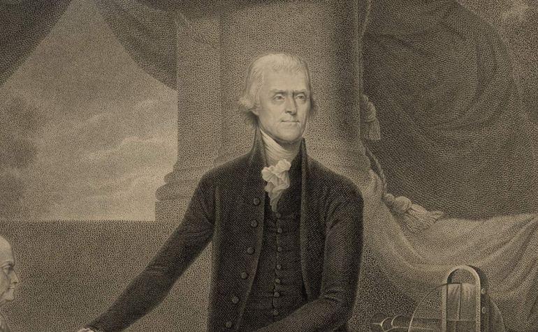 engraving thomas jefferson 1801