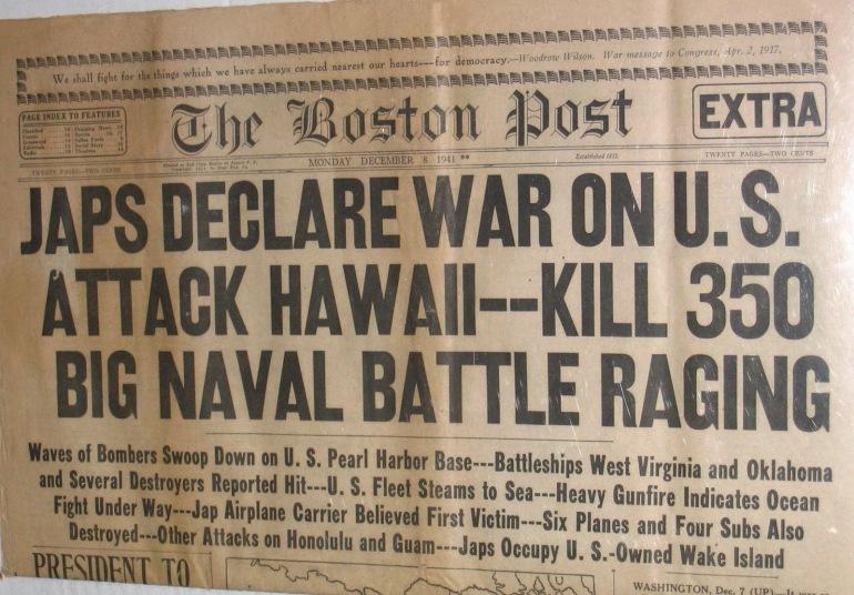 Pearl Harbor Headlines - Propaganda
