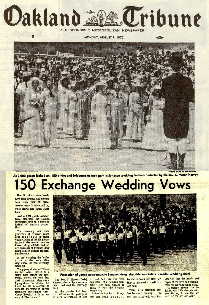 1972 mass synanon interracial wedding