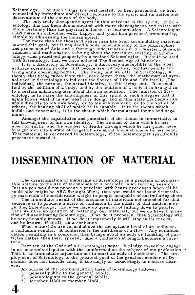 Hubbard description of scientology Ability 1 Major (1955) 2