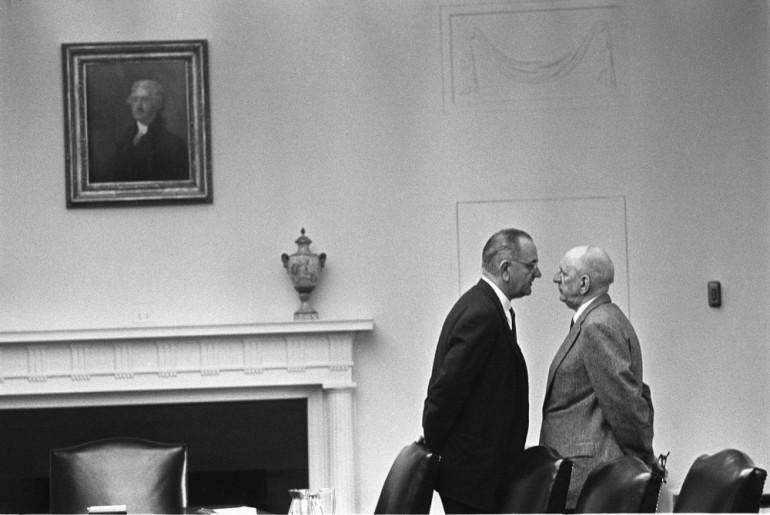 Lyndon_Johnson_and_Richard_Russell-the johnson treatment